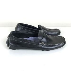Cole Haan Black Leather Driving Loafers - 7.5
